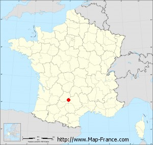 Small administrative base map of Savignac