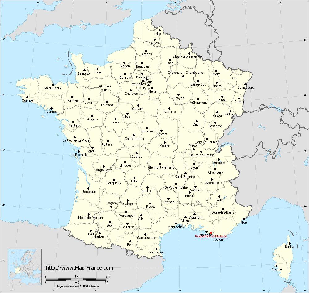 Administrative map of Roquefort-la-Bédoule