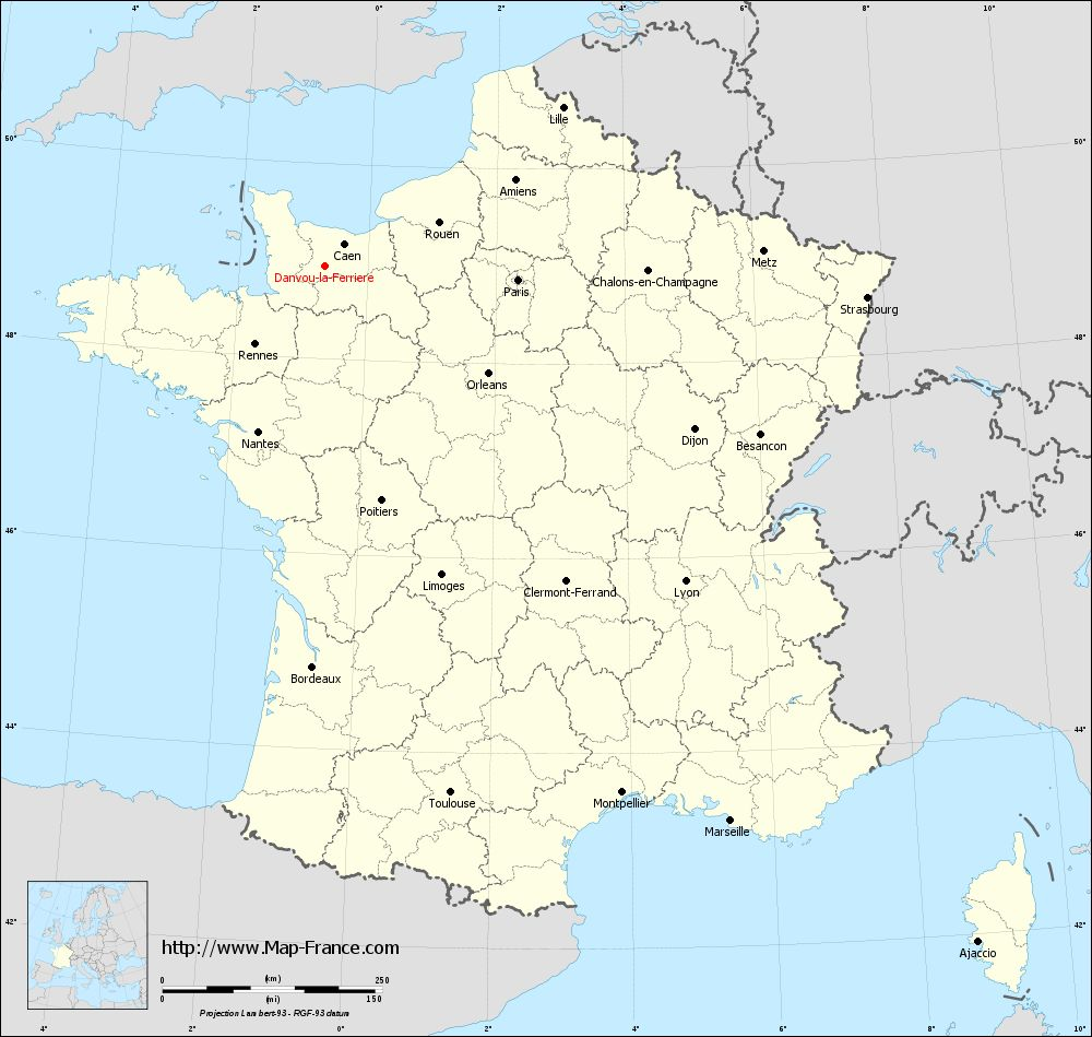 Carte administrative of Danvou-la-Ferrière