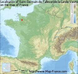 Saint-Germain-de-Tallevende-la-Lande-Vaumont on the map of France