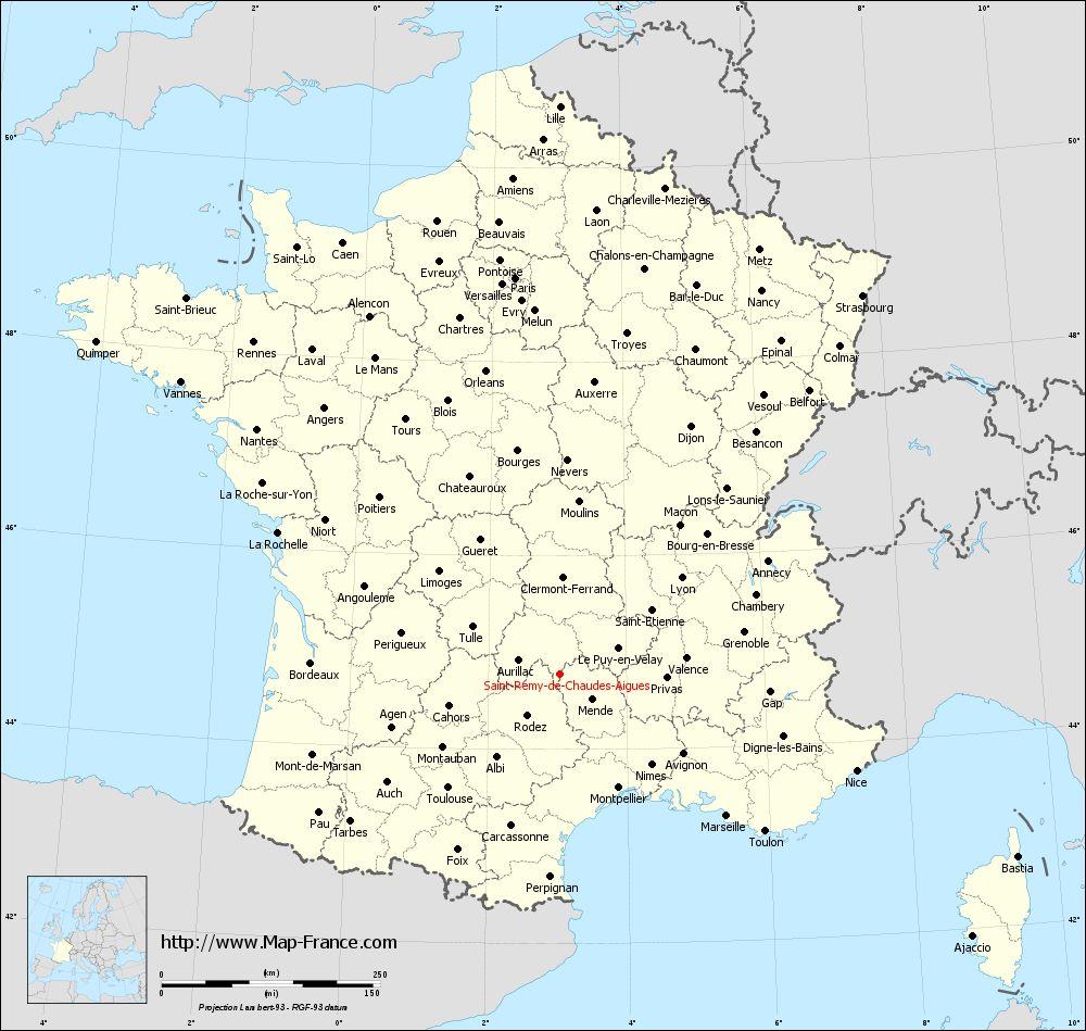 Administrative map of Saint-Rémy-de-Chaudes-Aigues