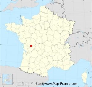 Small administrative base map of Bernac
