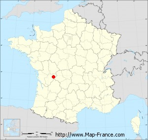 Small administrative base map of Genouillac
