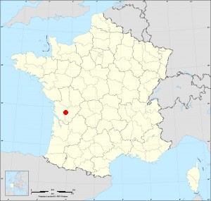 Small administrative base map of Réparsac