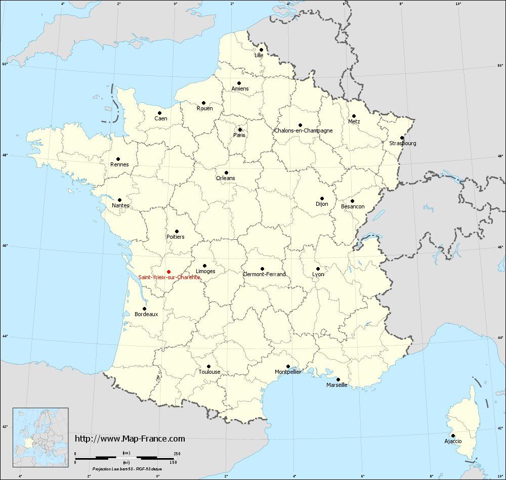 Carte administrative of Saint-Yrieix-sur-Charente
