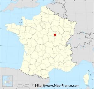 Small administrative base map of Corsaint
