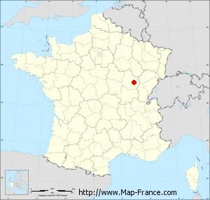Small administrative base map of Dijon