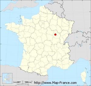 Small administrative base map of Villeberny