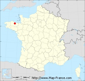 Small administrative base map of Langueux