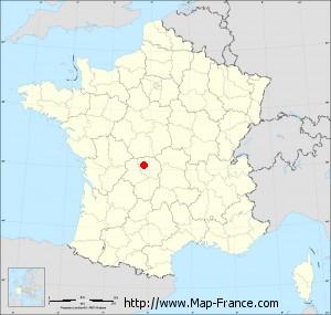 Small administrative base map of Saint-Silvain-Montaigut