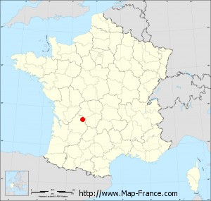 Small administrative base map of Clermont-d'Excideuil