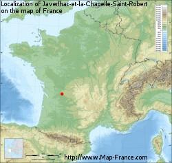 Javerlhac-et-la-Chapelle-Saint-Robert on the map of France