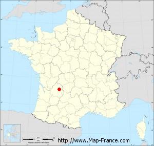 Small administrative base map of Montagnac-d'Auberoche