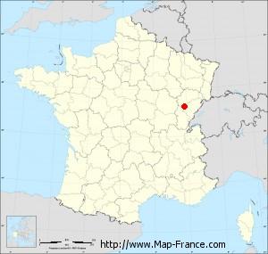 Small administrative base map of Dannemarie-sur-Crète