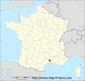 Small administrative base map of Aujargues