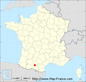 Small administrative base map of Castagnac