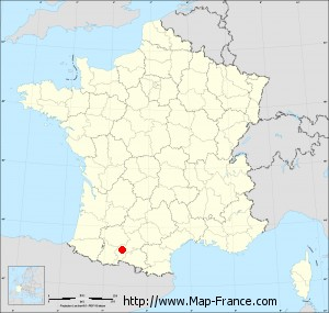 Small administrative base map of Cazeneuve-Montaut