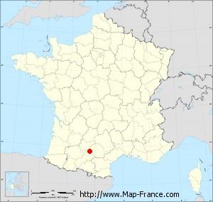 Small administrative base map of Gémil