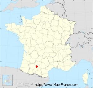 Small administrative base map of Lévignac