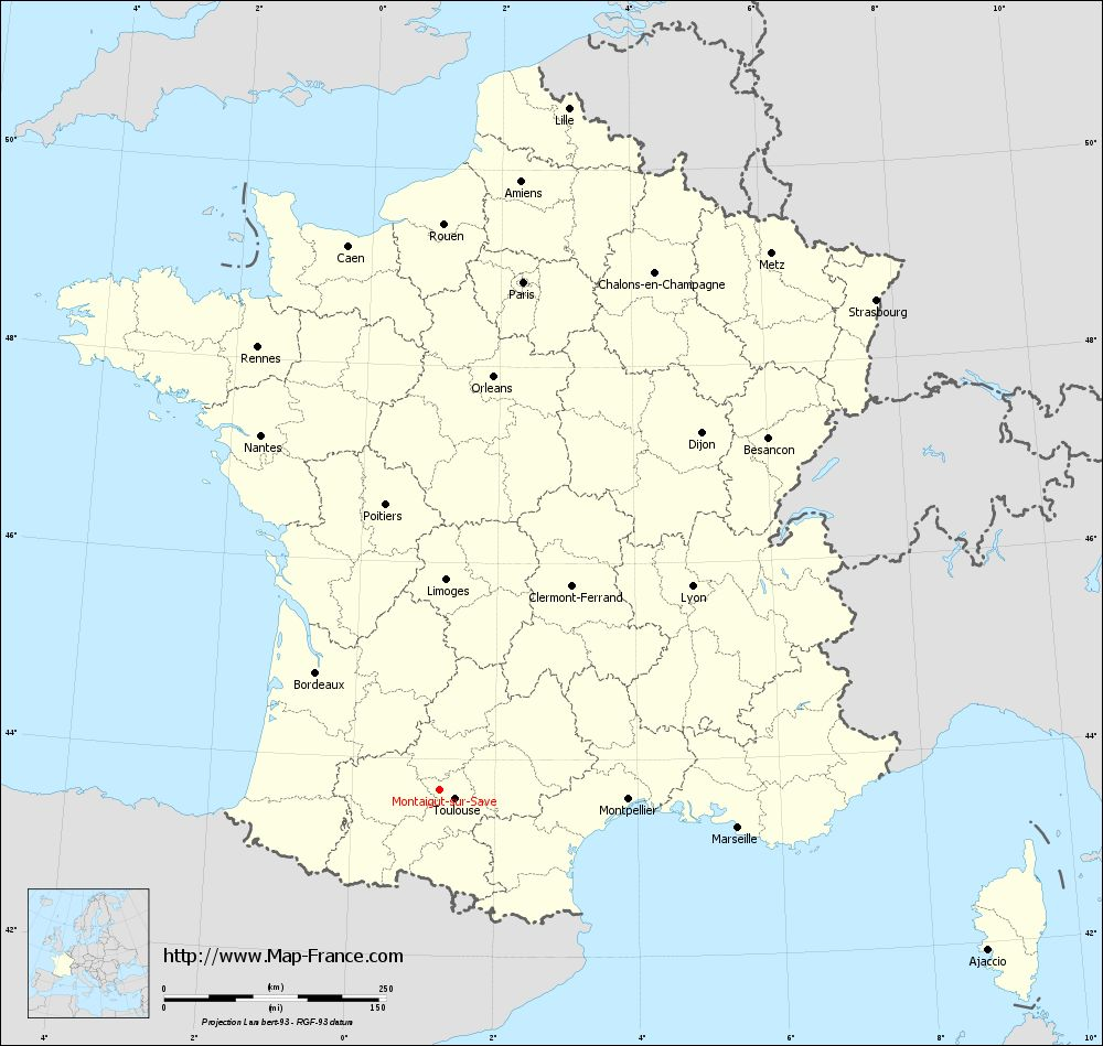 Carte administrative of Montaigut-sur-Save