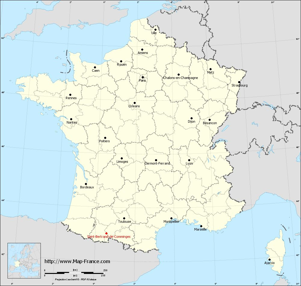 Carte administrative of Saint-Bertrand-de-Comminges