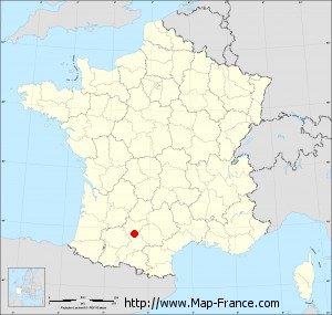 Small administrative base map of Saint-Rustice