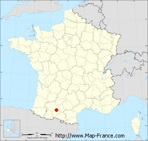 Small administrative base map of Montpézat