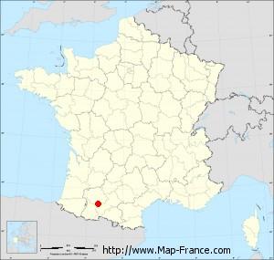 Small administrative base map of Saint-Blancard