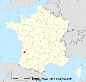 Small administrative base map of Le Bouscat