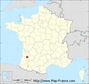 Small administrative base map of Lignan-de-Bazas