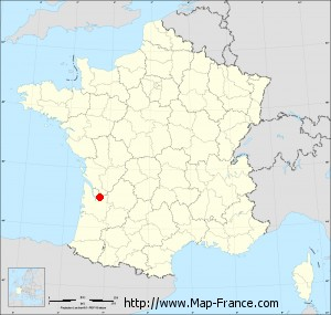 Small administrative base map of Vérac