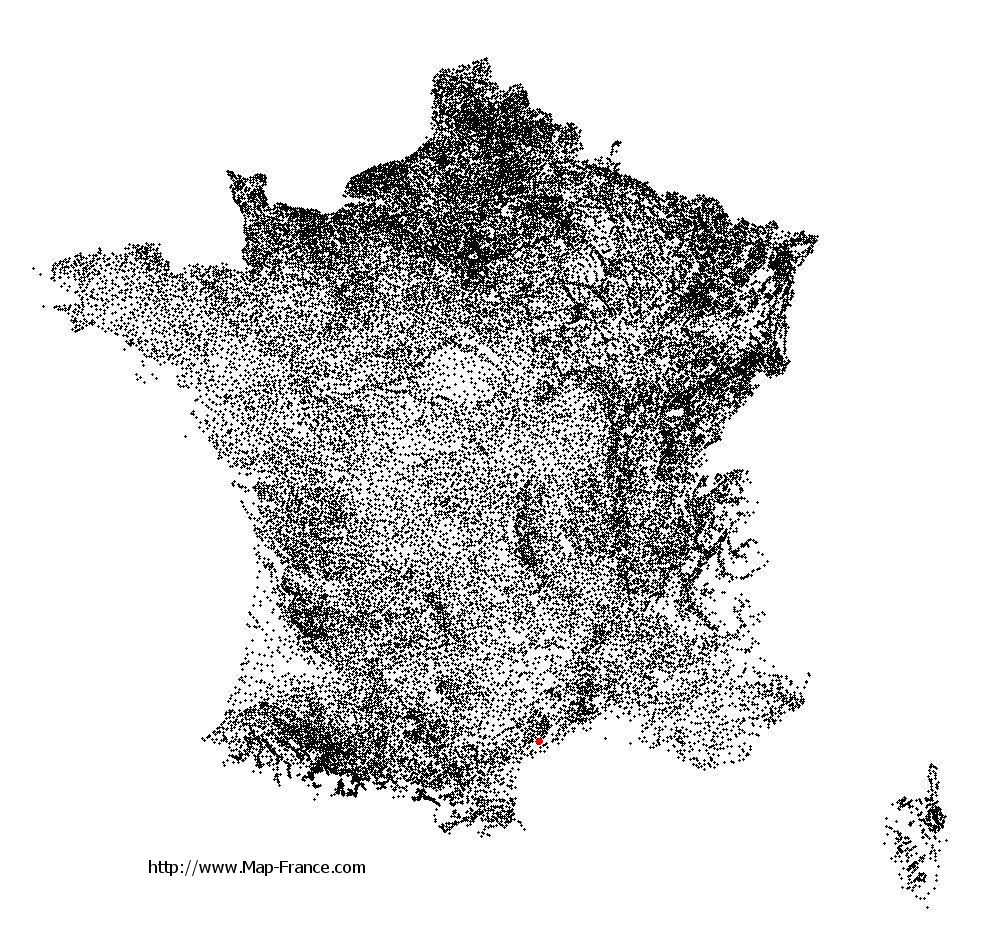Nézignan-l'Évêque on the municipalities map of France