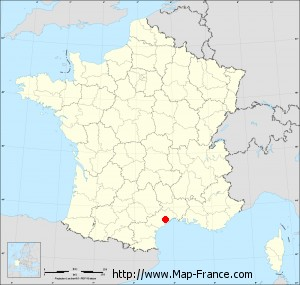Small administrative base map of Villeveyrac