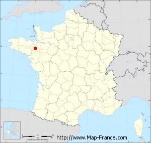 Small administrative base map of Saint-Erblon
