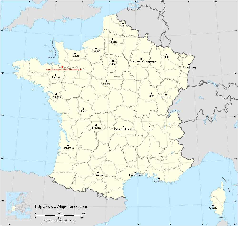 Carte administrative of Saint-Georges-de-Reintembault