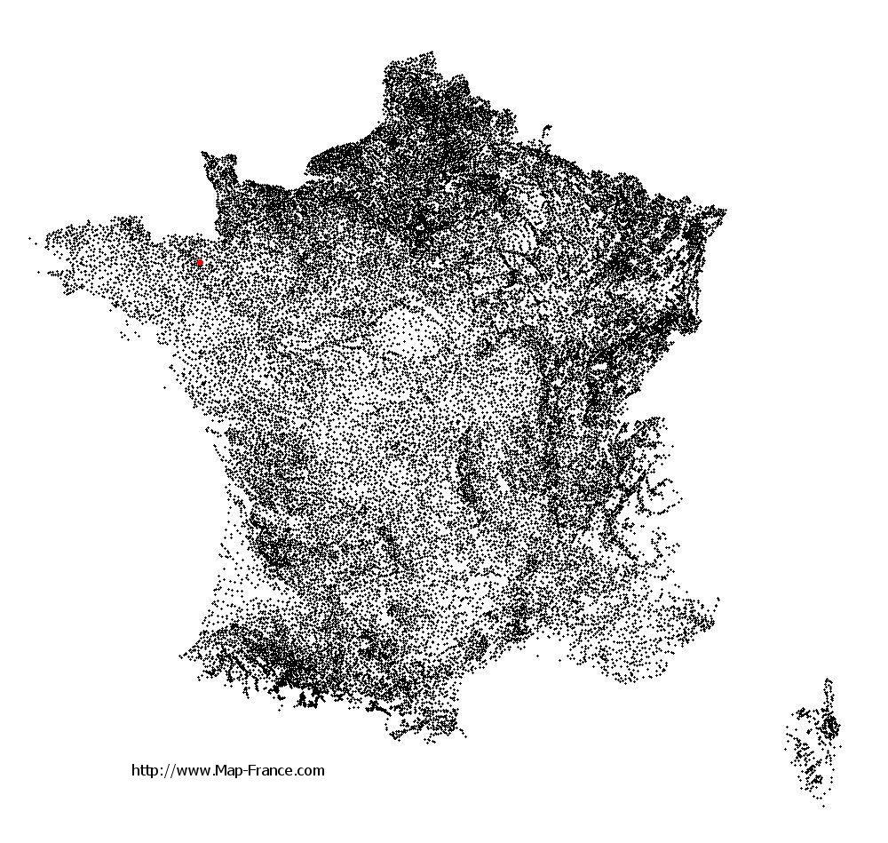 Tinténiac on the municipalities map of France