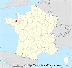 Small administrative base map of Tinténiac