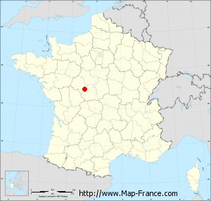 Small administrative base map of Châtillon-sur-Indre