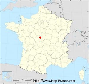Small administrative base map of Issoudun