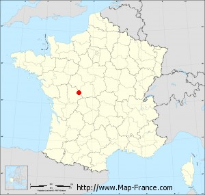 Small administrative base map of Mérigny