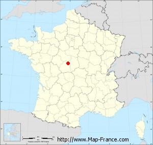 Small administrative base map of Meunet-sur-Vatan
