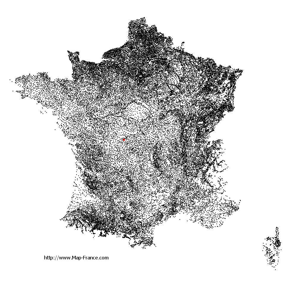 Parnac on the municipalities map of France