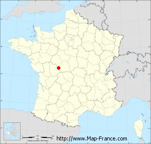 Small administrative base map of Preuilly-la-Ville