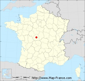 Small administrative base map of Saint-Maur