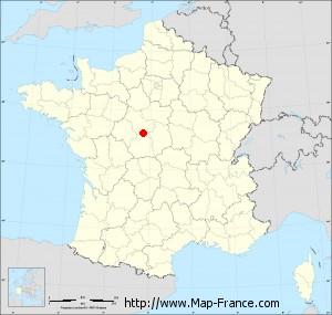Small administrative base map of Sembleçay