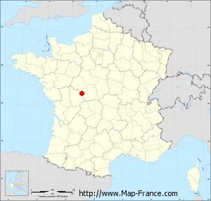 Small administrative base map of Tournon-Saint-Pierre