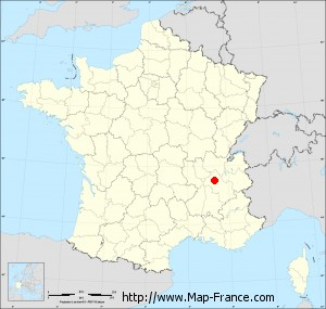 Small administrative base map of Flachères
