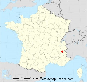 Small administrative base map of Saint-Christophe-en-Oisans