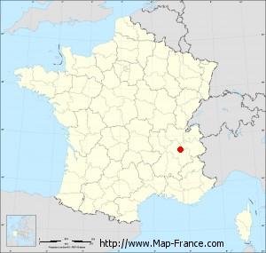 Small administrative base map of Saint-Étienne-de-Crossey