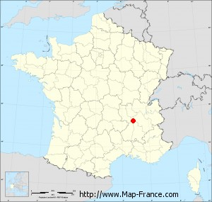 Small administrative base map of Salaise-sur-Sanne